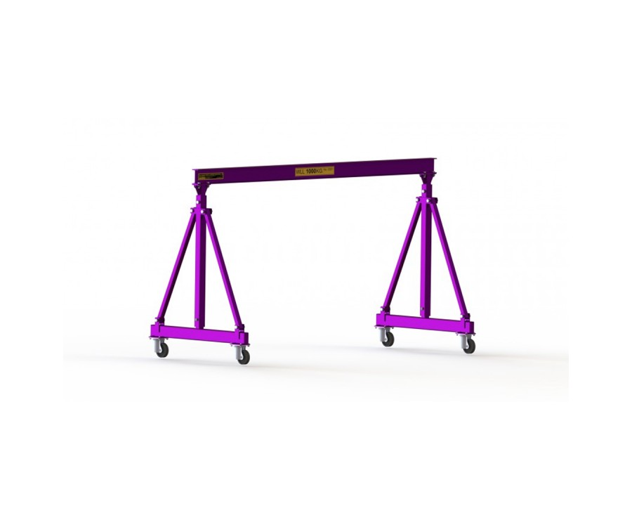 1 Tonne Mobile Steel Gantry Collapsible - MSGC1t
